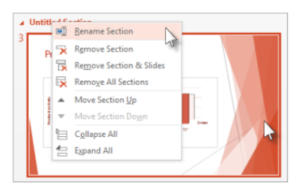 Working With PowerPoint Sections