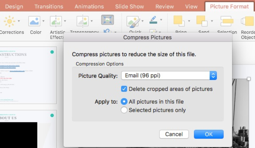 The Easiest Way To Compress Images Inside PowerPoint Presentations